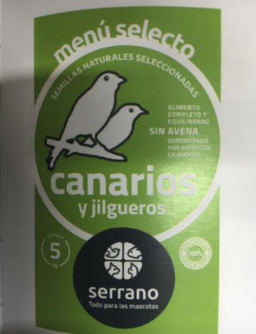 menu selecto canarios y jilgueros